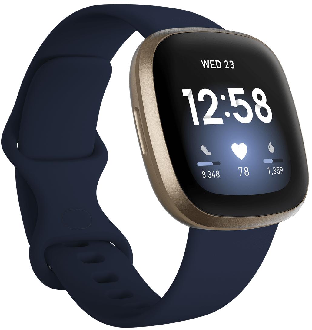 Fitbit Versa 3 Midnight/Soft Gold Aluminium
