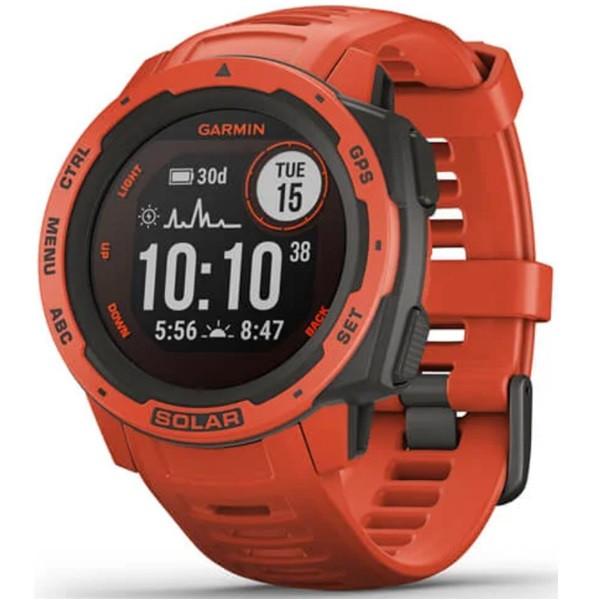 Garmin Instinct Solar GPS Watch (Flame Red)