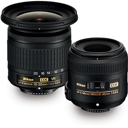 Nikon DX Landscape and Portrait Kit (10-20mm f/4.5-5.6 + Micro 40mm f/2.8)