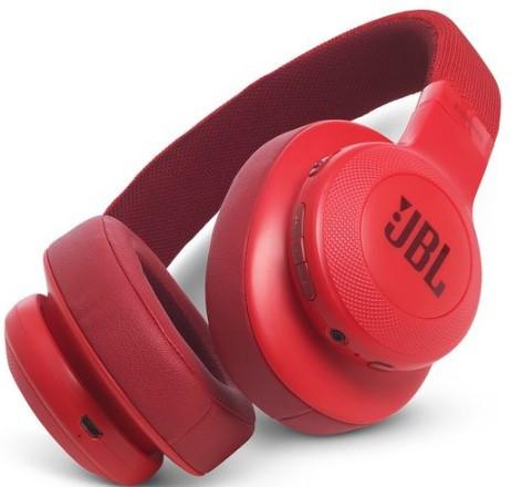 JBL E55BT Wireless over-ear headphones (Red)